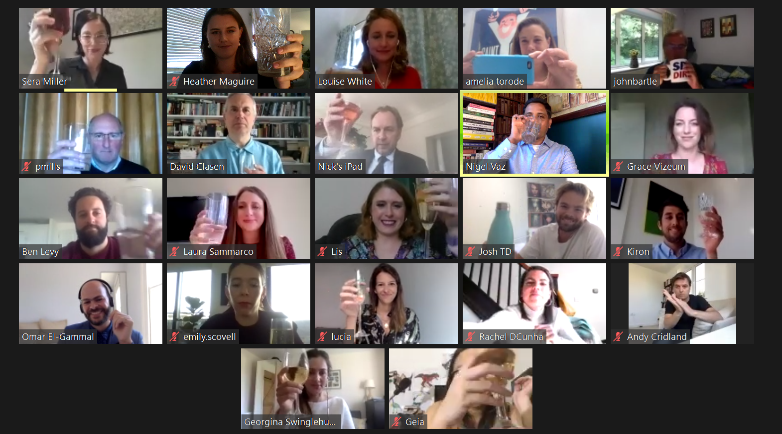 IPA candidates celebrate their success on Zoom
